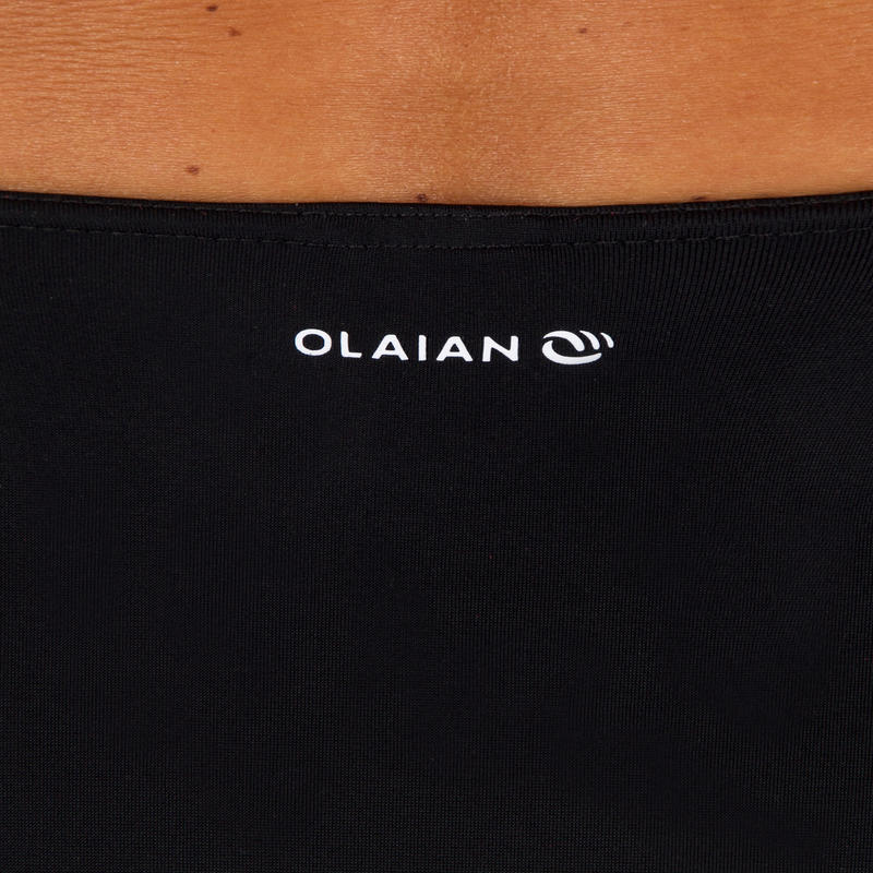 Parte inferior de bikini de surf para mujer talla alta ROMI NEGRA