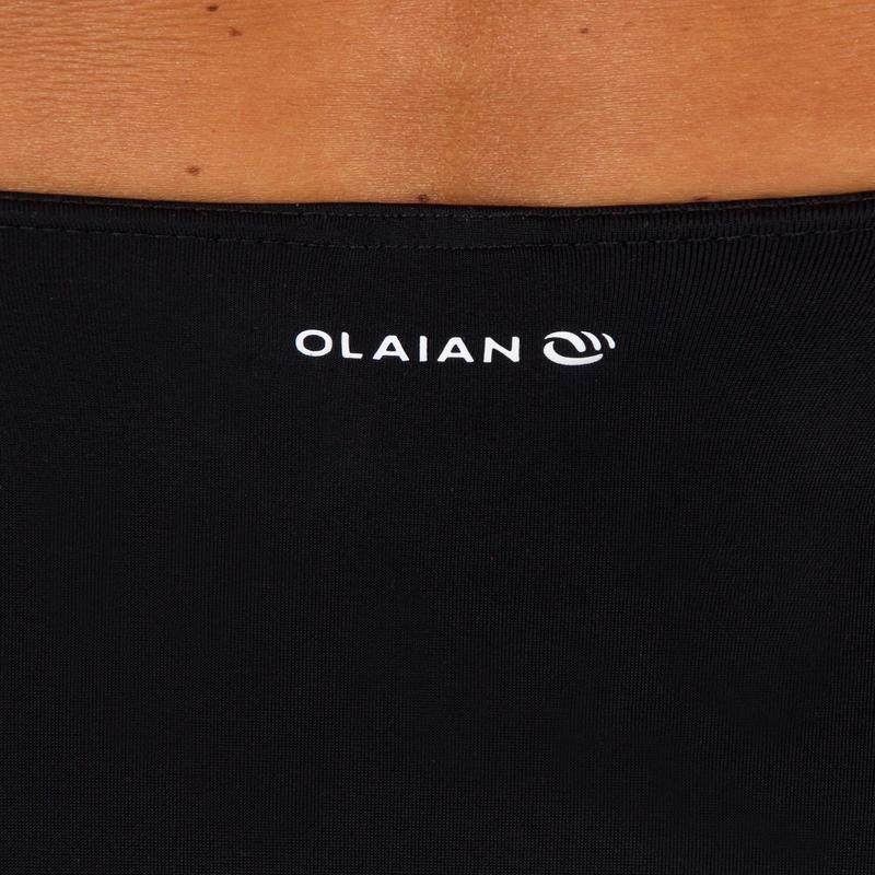 กางเกงว่ายน้ำสไตล์บิกินี่เอวสูงสำหรับผู้หญิงรุ่น ROMI (สีดำ)