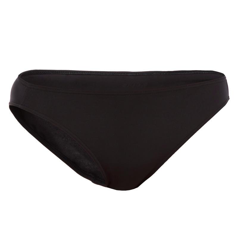 กางเกงว่ายน้ำสไตล์บิกินี่ทรงคลาสสิกสำหรับผู้หญิงรุ่น Nina (สีดำ)