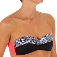 Top de bikini para mujer LAETI tipo banda con copas fijas MAORI