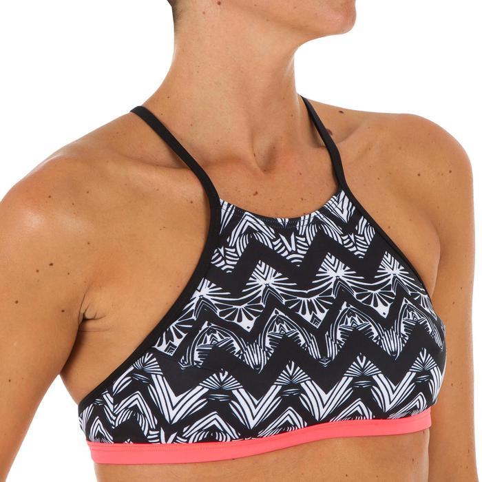 女款衝浪短版上衣ANDREA-摺疊條紋款