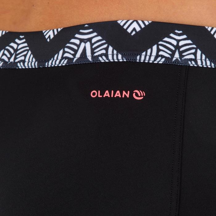 女款短版衝浪泳褲(附抽繩)VAIANA -摺疊條紋款