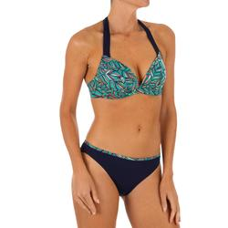 Bikini-Oberteil Push Up Elena Foly angenähte Formschalen Damen