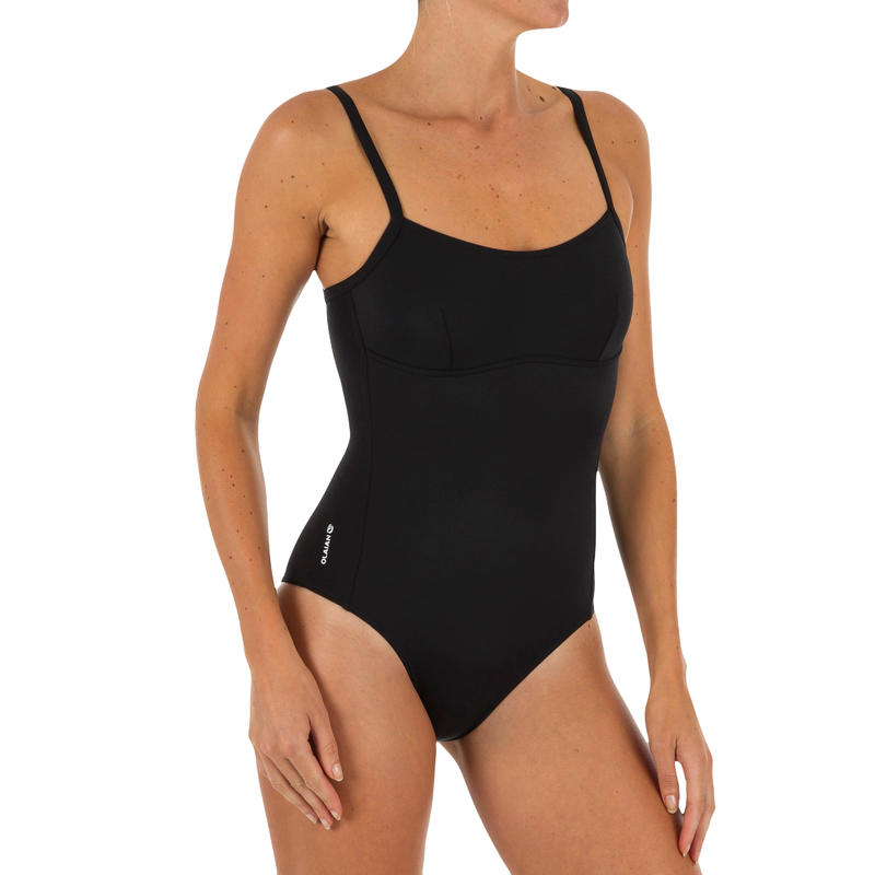 Cloe Women's One-Piece Swimsuit X- or U-shaped Back - Black