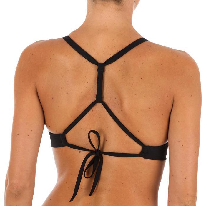 Top Bikini Surf Sujetador Deportivo Olaian Doble Ajuste Espalda Bea Mujer Negro