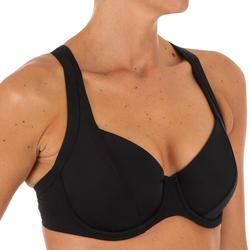 Minimizer-bikinitop met beugels voor dames Eden zwart
