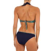 Top Bikini Surf Brassier Push-up Olaian Elena Fol Mujer Copas Fijas Azul Oscuro