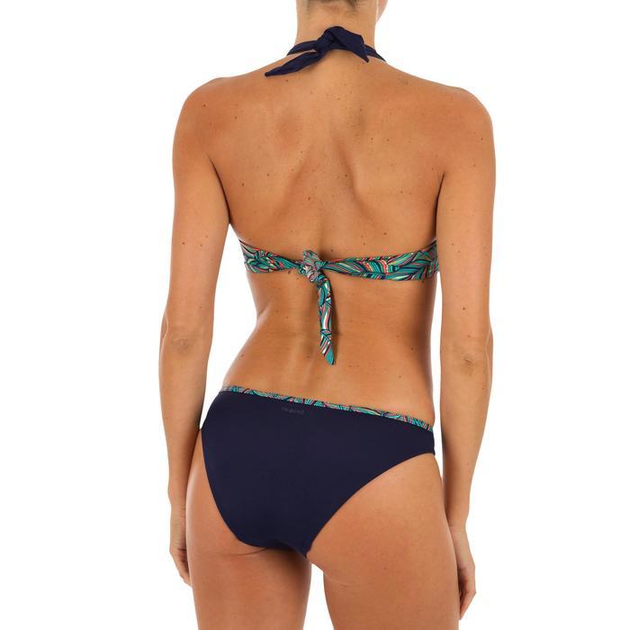 Top Bikini Surf Sujetador Push Up Olaian Elena Fol Mujer Copas Fijas Azul Oscuro