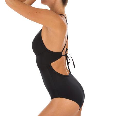 Traje baño 1 pza Depor. Surf Olaian Bea Mujer Ajuste 2x Espalda Escote Neg Retro