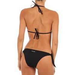 Bas de maillot de bain de surf femme échancrée et nouée côtés SABI NOIRE