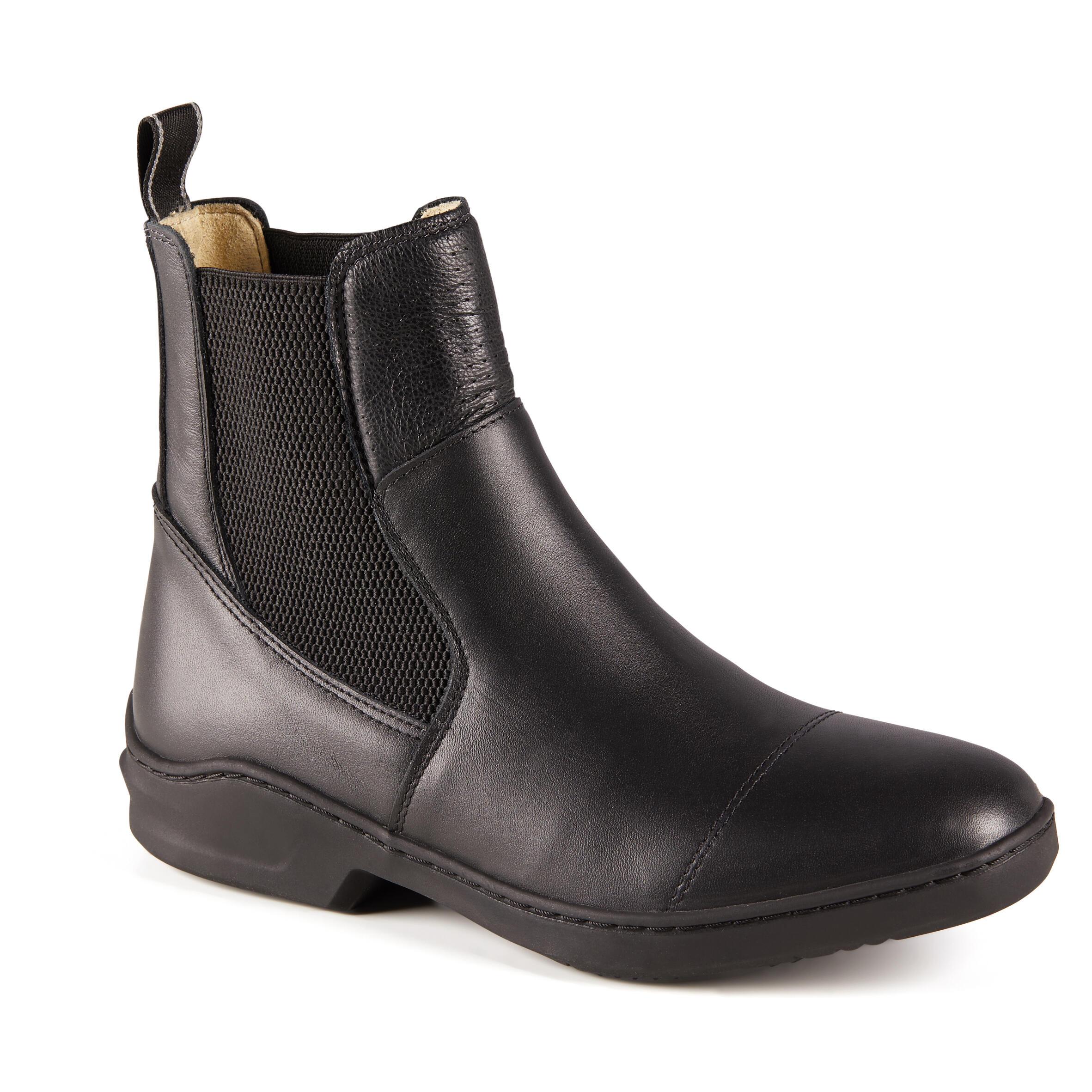 Reitstiefeletten 560 Leder Erwachsene | Schuhe > Sportschuhe | Fouganza