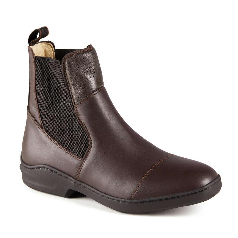 RIDSKOR Damskor - Jodphurs läder 560 vuxen brun FOUGANZA - Typ av sko
