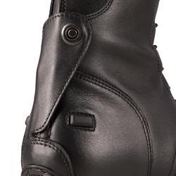 Reitstiefel Schnürung 900 Leder WADENWEITE M Erwachsene schwarz