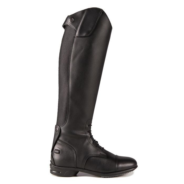成人款L號馬術皮靴900 Jump -黑色