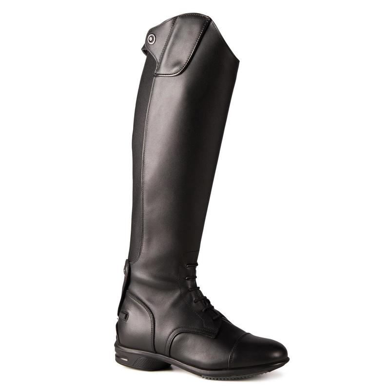 900 Jump M Adult Horse Riding Leather Boots - Black