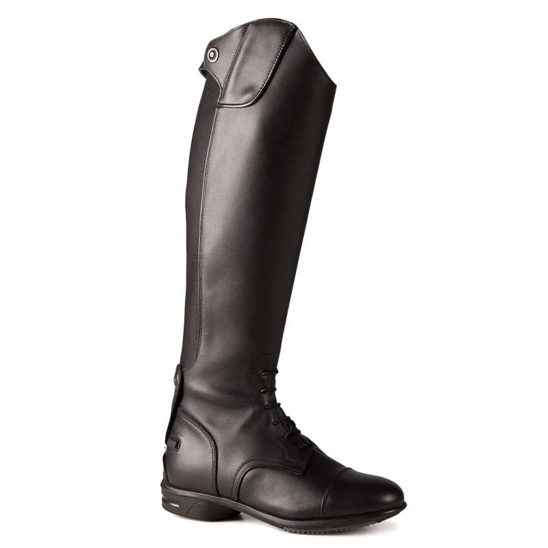 LONG RIDING BOOTS & ACCESSORIES Horse Riding - 900 Jump Boots - Black FOUGANZA - Horse Riding