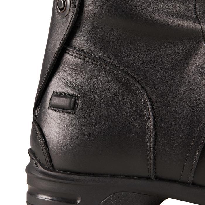 Bottes cuir équitation adulte 900 JUMP SECOND CHOIX M noir