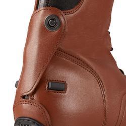 Bottes cuir équitation adulte 900 JUMP L marron
