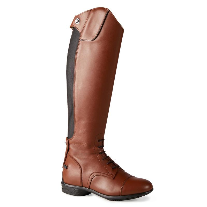 900 Jump M Adult Horse Riding Leather Long Boots - Brown