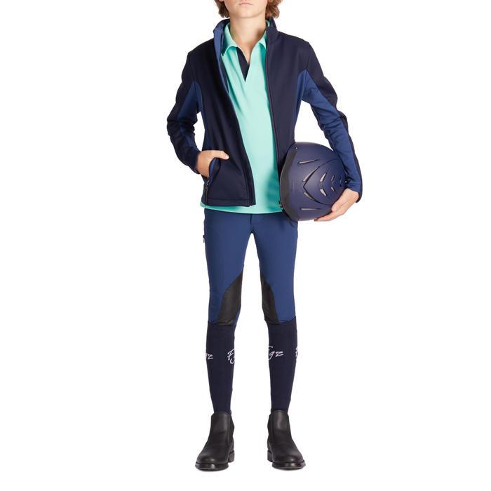 Medias calcetines equitación niña 500LIGHT Azul marino x 1 par