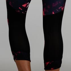7/8-legging cardiofitness dames 520 zwart print