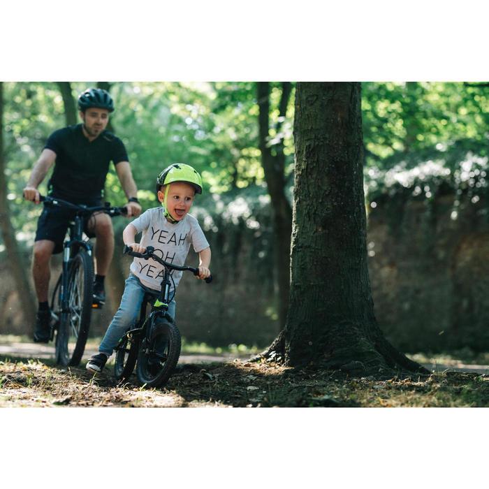 Bicicleta sin pedales infantil de 12 PULGADAS RUNRIDE 900 NEGRO AMARILLO