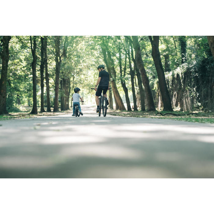 Loopfiets 3 tot 4 jaar 12 inch Run Ride 900 zwart/geel