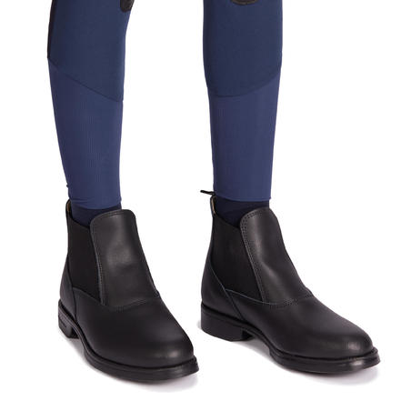 500 Children's Horseback Riding Mesh Jodhpurs - Turquoise/Navy