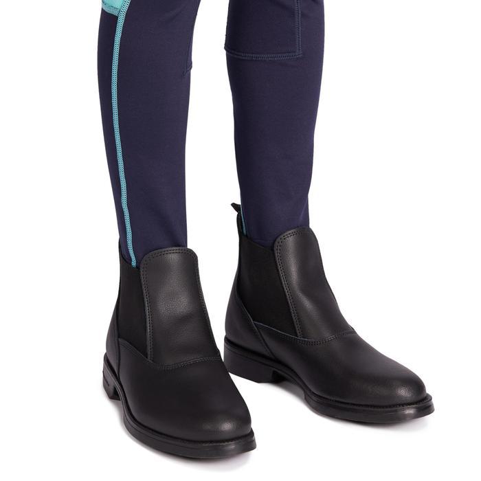 Leggings équitation enfant 100 LIGHT marine et turquoise