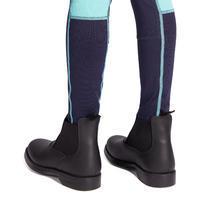 Pantalon équitation enfant 100 Léger marine et turquoise