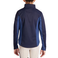 500 Children's Horse Riding Softshell Jacket - Navy/Blue