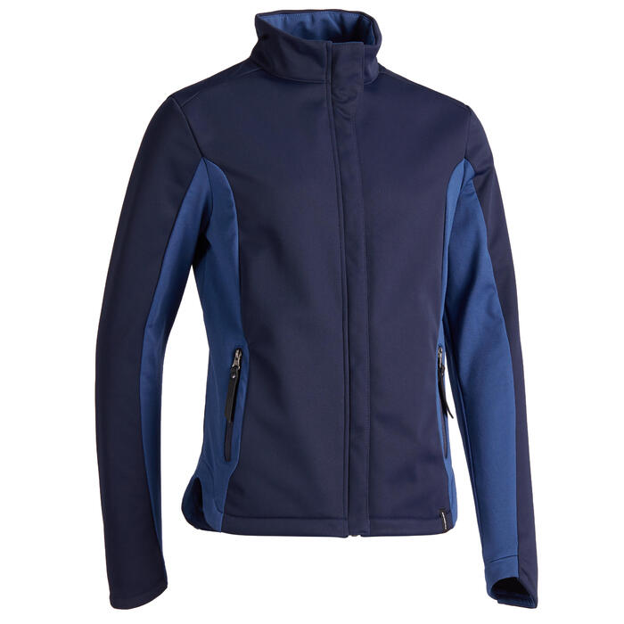 Kinderjas Softshell 500 ruitersport zwart