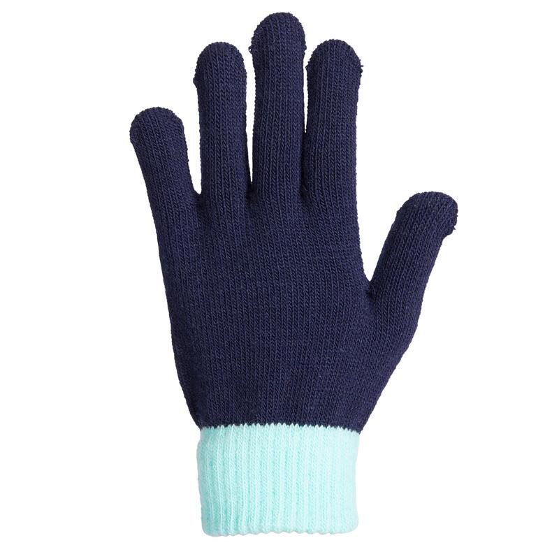 Gants d'équitation chauds avec grip Enfant - marine/bleu