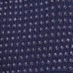 Reithandschuhe Trikot Kinder marineblau/türkis mit Silikonnoppen