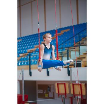Leotard Gymnastique Artistique Masculine (GAM) Garçon Homme Bleu