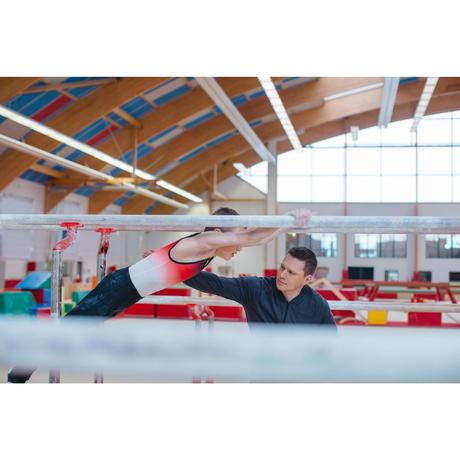 f66cac123c0d Body ginnastica artistica maschile 500 rosso | Domyos by Decathlon