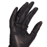 Women's Horse Riding Leather Gloves 960 - Black