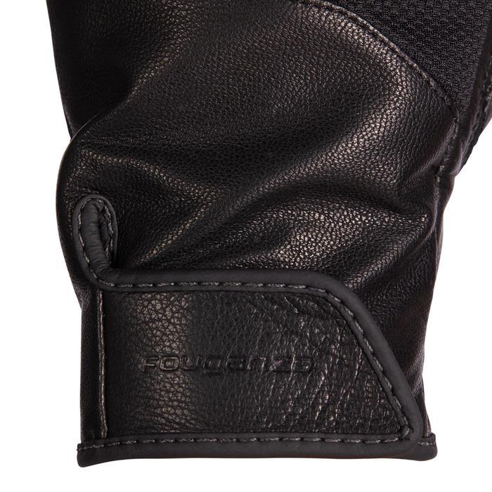 Leren rijhandschoenen voor dames 960 zwart
