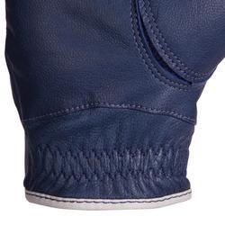 Gants d'équitation en cuir respirant Femme - 960 marine