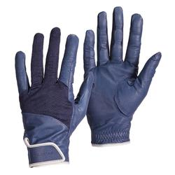 Leren rijhandschoenen voor dames 960 marineblauw