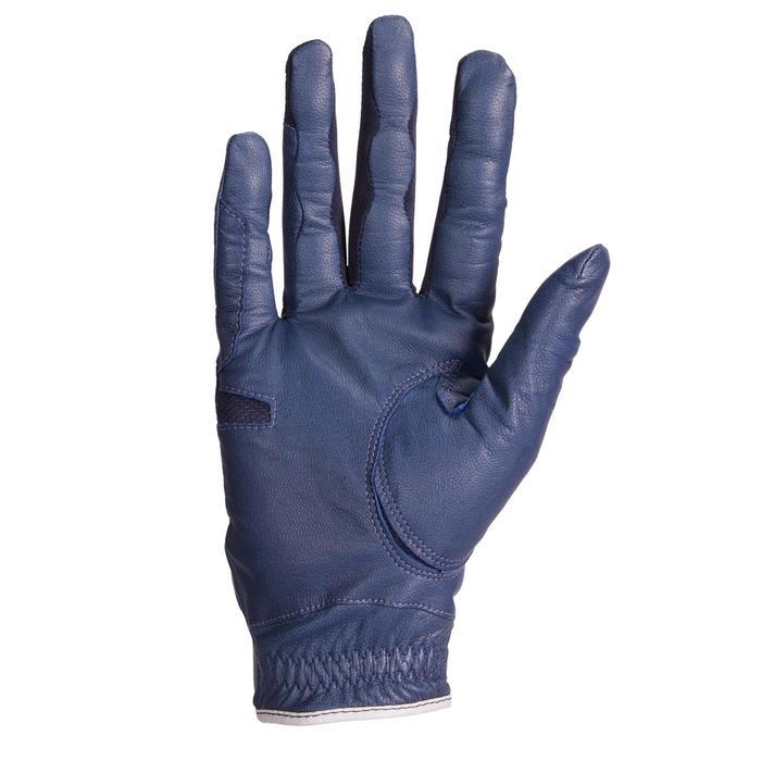 Guantes Equitación 960 Mujer Azul Marino Piel