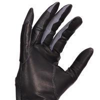 Gants cuir équitation femme 900 noir