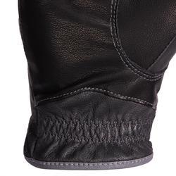 Leren rijhandschoenen voor dames 900 zwart