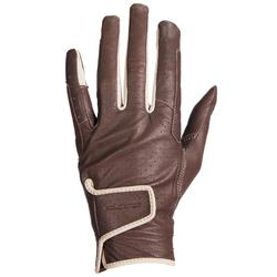 900 Women's Horse Riding Gloves - Brown