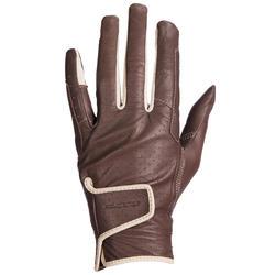 女用馬術手套900-棕色