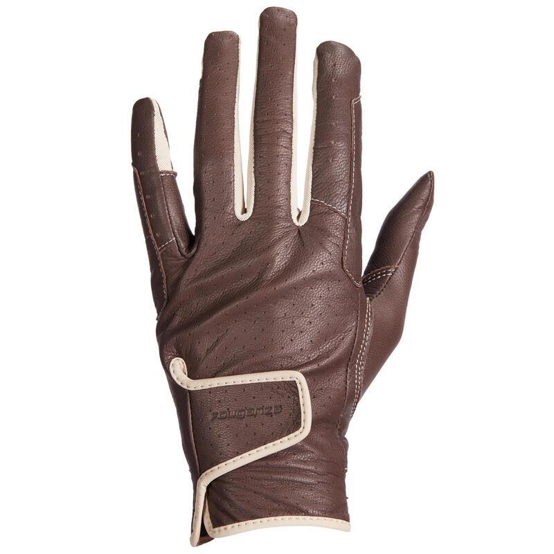 Gants d'équitation en cuir Femme - 900 marron