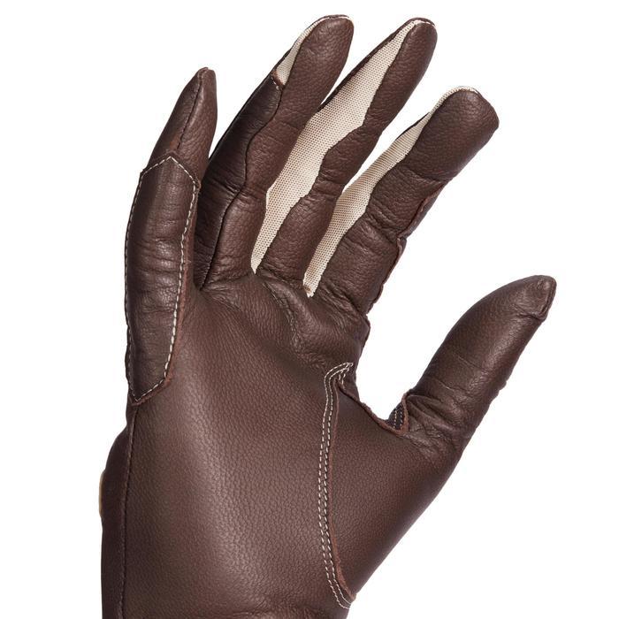 Gants cuir équitation femme 900 marron