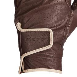 Gants équitation femme 900 marron