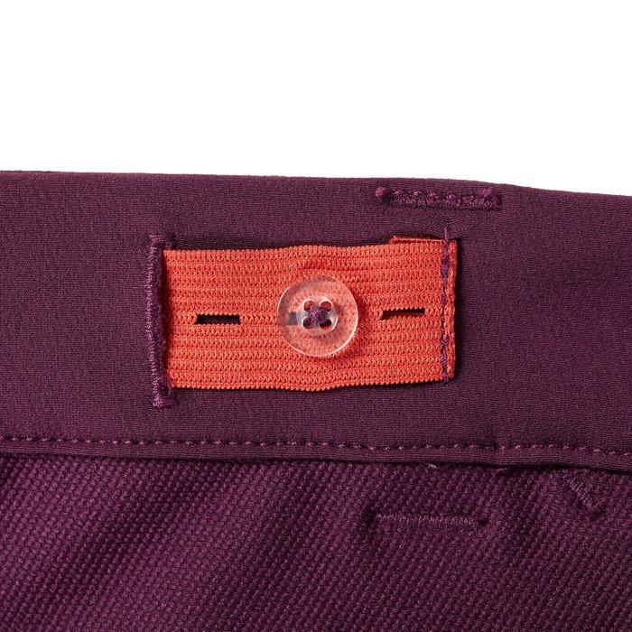Pantalon équitation enfant 500 MESH prune et marine