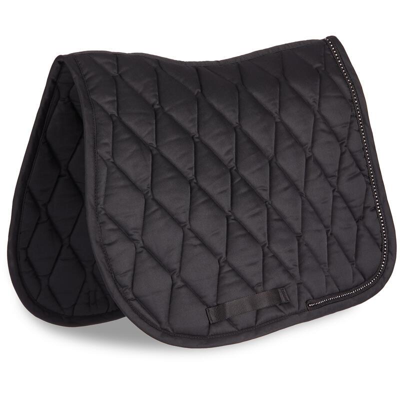 Horse & Pony Saddle Cloth 100 - Black Rhinestones